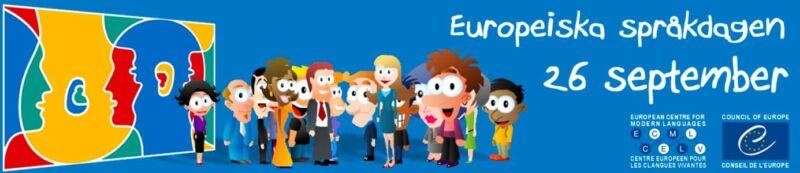 Banner Europeiska språkdagen